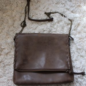 Handbags - BROWN LEATHER CROSSBODY PURSE